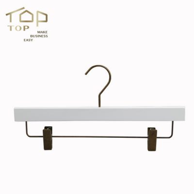 Wholesale Natural Wood Clothes Hanger Branded Wooden Pant And Skirt