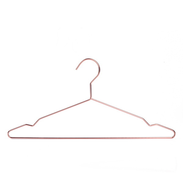 Wholesale Rose Gold Red Copper Thick Metal Clothes Hangers